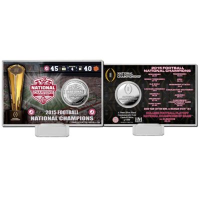 University of Alabama 2016 National Champions Coin Card
