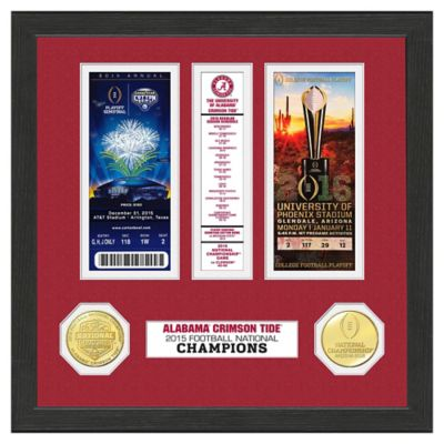 University of Alabama 2015 National Champions Ticket Collection Frame