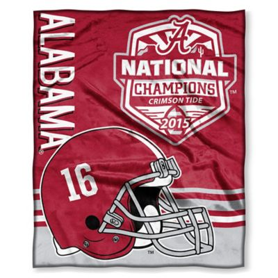 University of Alabama 2016 National Champions Silk Touch Throw Blanket