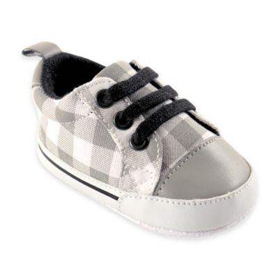 BabyVision® Luvable Friends™ Size 0-6M Basic Canvas Sneaker in Grey Plaid