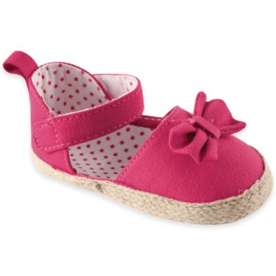 BabyVision® Luvable Friends™ Size 6-12M Bow Espadrille in Pink