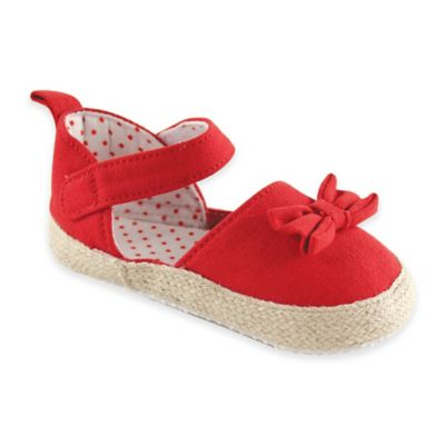 BabyVision® Luvable Friends™ Size 6-12M Bow Espadrille in Red