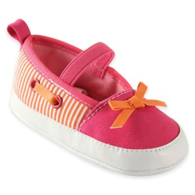 BabyVision® Luvable Friends™ Size 0-6M Boating Flats in Pink/Orange