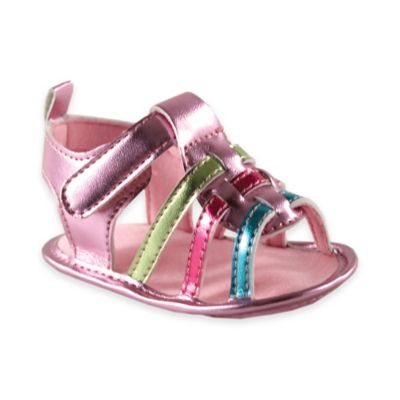 BabyVision® Luvable Friends™ Size 12-18M Metallic Sandal in Pink