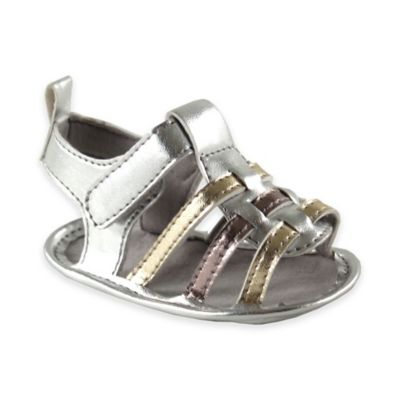 BabyVision® Luvable Friends™ Size 12-18M Metallic Sandal in Silver