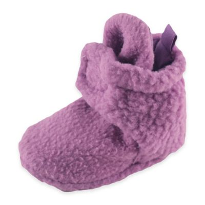 BabyVision® Luvable Friends™ Size 0-6M Scooties Fleece Booties in Lilac
