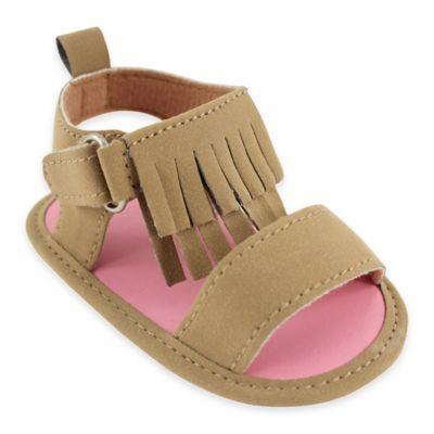 BabyVision® Luvable Friends® Size 6-12M Fringe Sandal in Tan