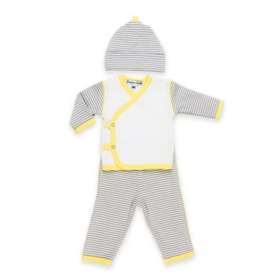 Sippy's Babes® Newborn 3-Piece Striped Take Me Home Set in White/Grey