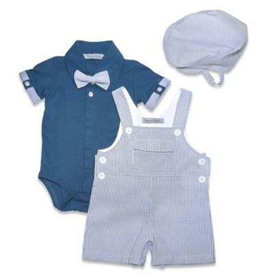 Navy Bodysuit and Hat Set
