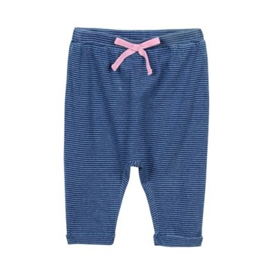 Splendid Size 0-3M Striped Jogger Pant in Indigo/Pink