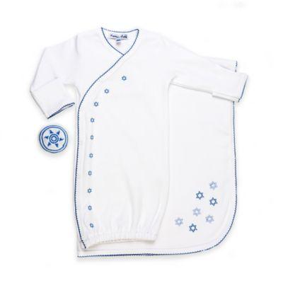 Layette Sets > Sippy's Babes® Newborn 3-Piece Stars of David Bris Set in White/Blue
