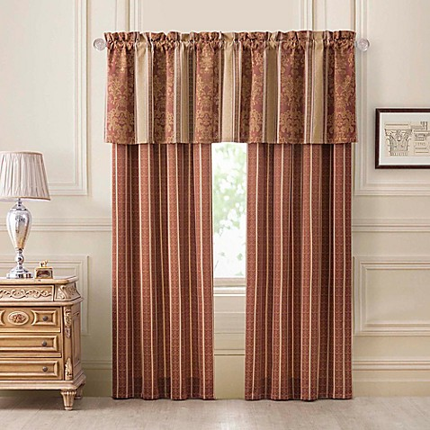 Harvard Window Curtain Panel Pair And Valance In Spice Bed Bath Beyond