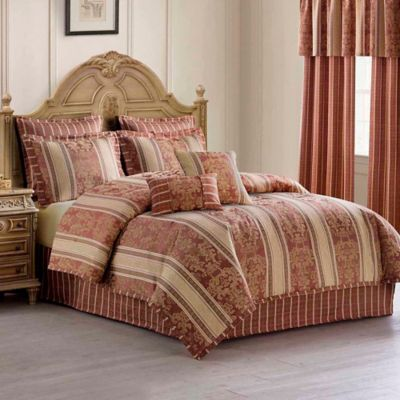 Harvard Jacquard 8-Piece Queen Comforter Set in Spice