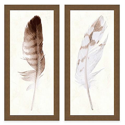 Feather Panel Framed Art Print Www Bedbathandbeyond Com