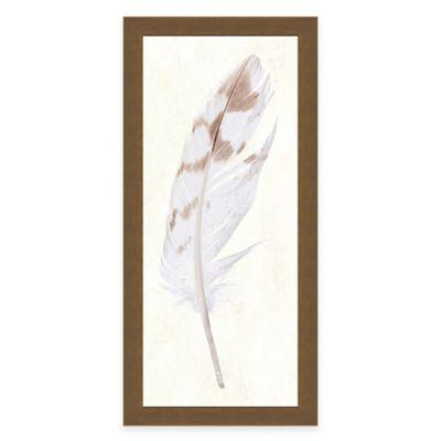 Feather Panel I Framed Art Print