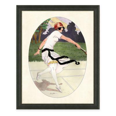 Framed Giclée Tennis Woman Print Wall Art