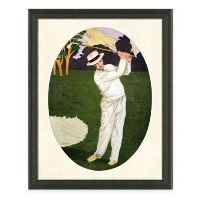 Framed Giclee Tennis Man Print Wall Art