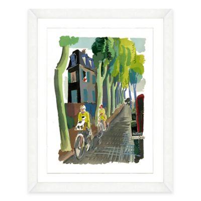 Framed Giclée Watercolor Bike Print Wall Art