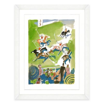 Framed Giclée Watercolor Polo Print Wall Art