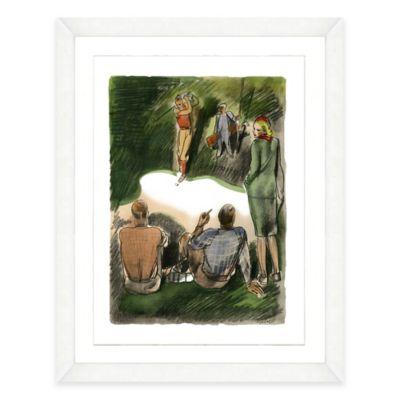 Framed Giclée Watercolor Golf Print Wall Art