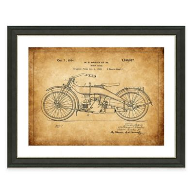 Heritage Motorcycling Patent Framed Print