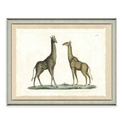 The Framed Giclée Double Giraffe Print Wall Art