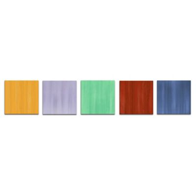 Spring Abstract Metal Wall Art in Pastel Colors