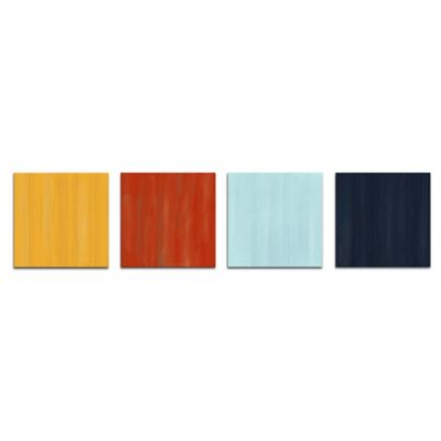 Hot and Cold Abstract Metal Wall Art in Nautical Colors