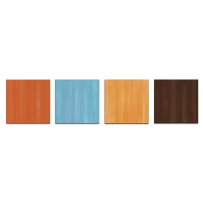 Cozy Abstract Metal Wall Art in Coastal Colors