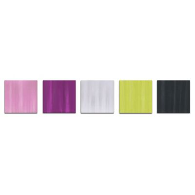 Field of Color Abstract Metal Wall Art in Pastel Colors