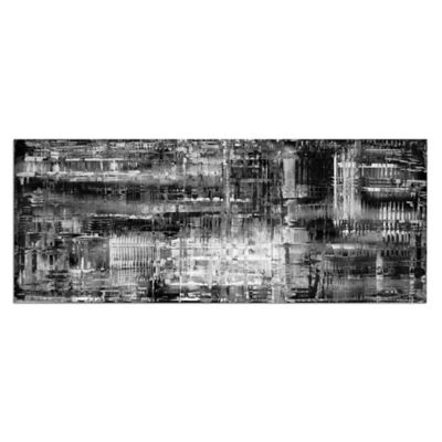 Aporia Urban Abstract Metal Wall Art in Black/White