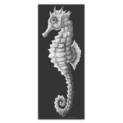 Sea Fantasy Metal Wall Art in Black/White