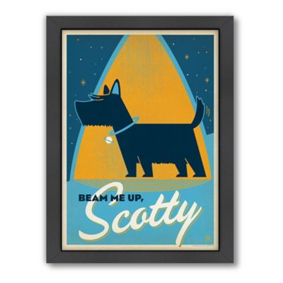 """""""Beam Me Up, Scotty"""" Framed Wall Art by Anderson Design Group"""