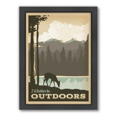 """I'd Rather Be Outdoors"" Framed Wall Art by Anderson Design Group"