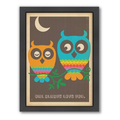 Mod Owls Framed Wall Art by Anderson Design Group