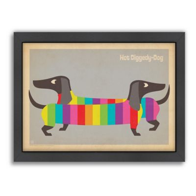 Mod Rainbow Dogs Framed Wall Art by Anderson Design Group
