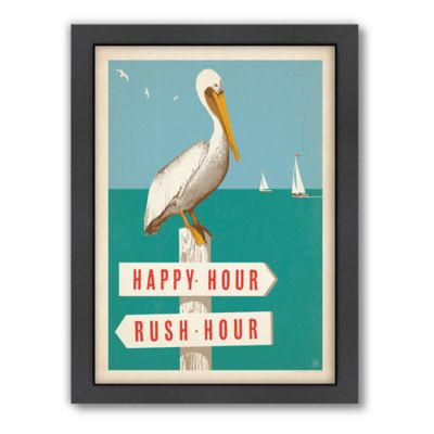 Pelican Signpost Framed Wall Art by Anderson Design Group
