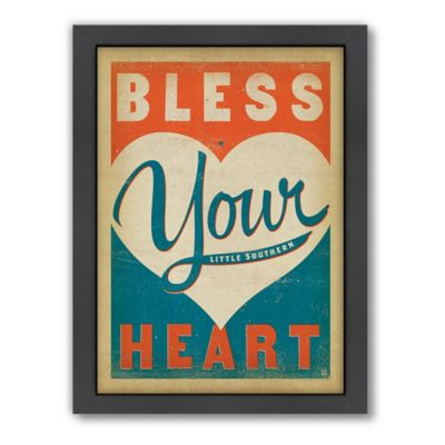 """Bless Your Heart"" Framed Wall Art by Anderson Design Group"