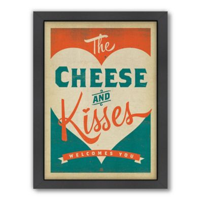 """Cheese and Kisses"" Framed Wall Art by Anderson Design Group"