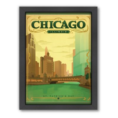Art & Soul of America™ Chicago: St. Patrick's Day Framed Wall Art by Anderson Design Group