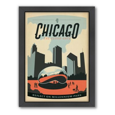 Art & Soul of America™ Chicago: Millennium Park Framed Wall Art by Anderson Design Group