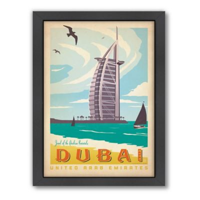 World Travel Dubai Framed Wall Art by Anderson Design Group