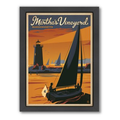 Art & Soul of America™ Martha's Vineyard, Sailboat Framed Wall Art by Anderson Design Group