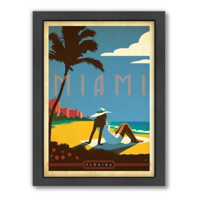 Art & Soul of America™ Miami Framed Wall Art by Anderson Design Group