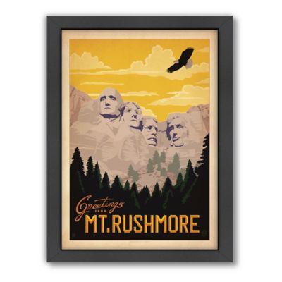 Mt. Rushmore National Memorial Framed Wall Art by Anderson Design Group
