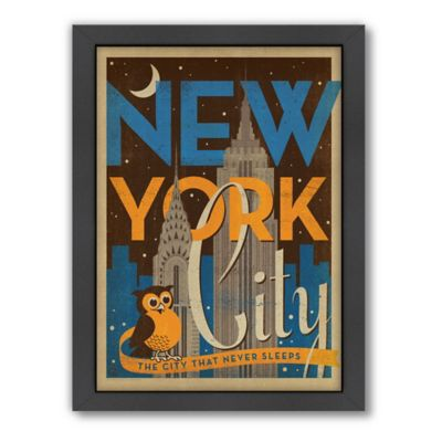 Art & Soul of America™ New York City: Night Owl Framed Wall Art by Anderson Design Group