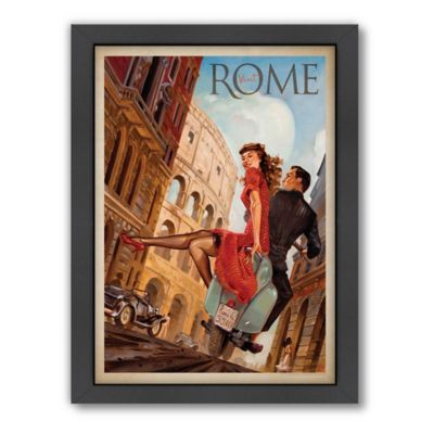 Rome by Vespa Framed Wall Art by Anderson Design Group