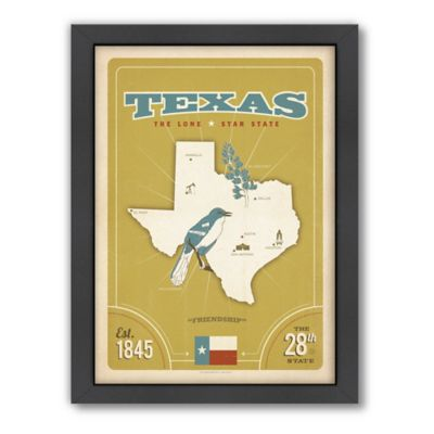 Art & Soul of America™ Texas: State Pride Framed Wall Art by Anderson Design Group