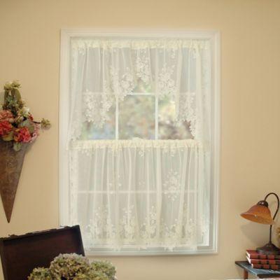 Heritage Lace® Tea Rose Window Swag Pair in Ecru