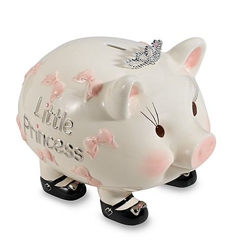 Mud Pie® Baby Princess Piggy Bank